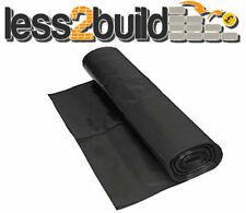 DAMP PROOF MEMBRANE BLACK 1200G 300mu 4Mx 25M DPM POLYTHENE SHEETING ROLL