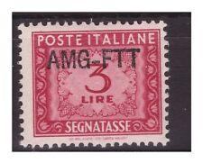 TRIESTE A - 1949  SEGNATASSE SOPR. UNA RIGA  LIRE 3 NUOVO **