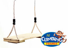 HALF PRICE LONG Outdoor Wooden Swing Seat Climbing Frame Tree House RRP £25.98