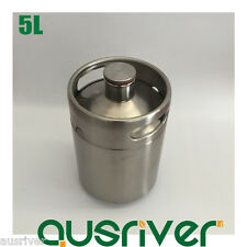 New 304 Stainless Steel 5L Beer Keg Mini Growler Homebrew Wine Brewing Xmas Gift