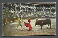 """C1920's View of a Bull Fight in Spain """"Entrando a matar"""""""