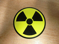 Nuclear / Radioactive symbol - 75mm sticker/decal