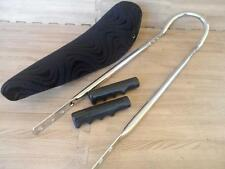 "20"" BLACK Velour Velvet Lowrider Krate BANANA SEAT SISSY BAR Grips Included"