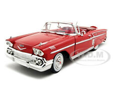 1958 CHEVROLET IMPALA RED 1:24 DIECAST MODEL CAR BY MOTORMAX 73267