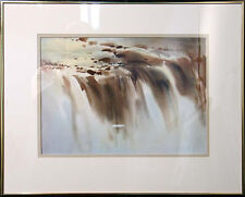 "Doug Lew ""Niagara Falls"" Original Watercolor Painting, waterfall New York Canada"