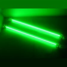 "GREEN 12"" DUAL COLD CATHODE LIGHT KIT CCFL ULTRA BRIGHT PC COMPUTER LOGISYS"