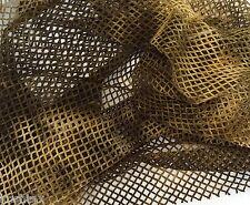 """Tie Dye Fishnet Stretch Fabric by Yard Army Green Beige 60""""W 3/16"""