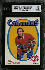 1971-72~O-PEE-CHEE~#148~GUY LAFLEUR~HOF ROOKIE~MONTREAL CANADIENS~KSA 8 NM-MT