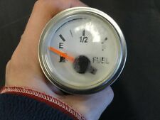 FARIA FUEL GAUGE GP7410A SILVER BEZEL & WHITE FACE MARINE BOAT