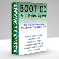XP VISTA 7 WINDOWS 8 PROFESSIONAL BOOT CD PC REPAIR RECOVERY DISC HP DELL ACER