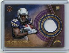 2015 TOPPS VALOR #VP-MG MELVIN GORDON PATCH ROOKIE RC #6/75, SAN DIEGO CHARGERS