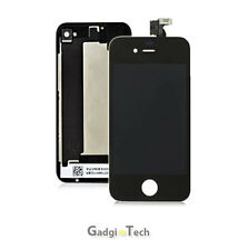 OEM QUALITY IPHONE 4S BLACK FRONT LCD TOUCH SCREEN DIGITIZER & GLASS BACK COVER