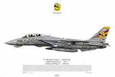 Squadron Print 514 F-14D Super Tomcat VF-31 USS Carl Vinson US Navy Aviation Art