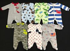 Infant Baby Boy Clothes Newborn One Piece Sleepers Mixed Lot Set
