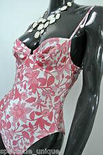 Rasurel * vintage-traje de baño * florales Design * Rosé blanco 40 B
