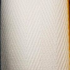 25mm X 50M Roll White Cotton Bunting Tape with Herringbone Weaving Pattern