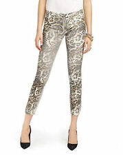 NEW Juicy Couture Straight Crop Size 25 Leopard Print Sheen Jeans C3H-RT-50186-M