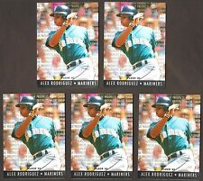 ALEX RODRIGUEZ 1995 Ultra MAJOR LEAGUE PROSPECTS #10 of 10 insert card lot of 5
