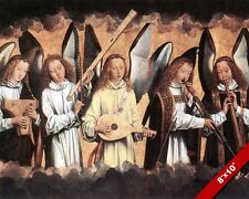 ANGELIC CHOIR ANGELS PLAYING MUSIC PAINTING BIBLE CHRISTIAN ART CANVAS PRINT