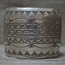 Great Vintage Navajo Native American Sterling Cuff Bracelet by Darrell Victor