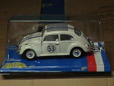 JL Disney Herbie Love Bug WHITE VW Beetle Bug1:18 Diecast Playing Mantis