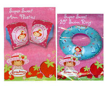 "STRAWBERRY SHORTCAKE Girls Kids 20"" Swim Ring Tube + Pool Arm bands Arm Floats"