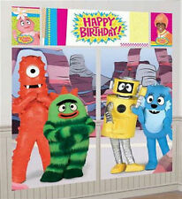 YO GABBA GABBA Scene Setter HAPPY BIRTHDAY party wall decoration kit  6'
