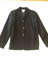 HARVE BENARD WOMANS SIZE 10 BLACK WOOL BLEND SPORT COAT BLAZER JACKET NWT