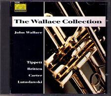 WALLACE COLLECTION Britten Carter Lutoslawski Tippett Brass Quintet 1991 CD John