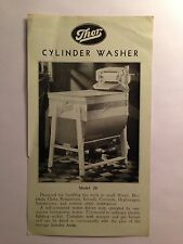 Thor Cylinder Washer Model 28 Specification Advertisement