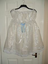 GORGEOUS ADULT BABY~SISSY~MAIDS ~ FETISH SEXY SHEER ORGANZA STRAPLESS BABYDOLL