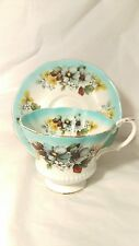 Royal Albert Reflection Series Aqua Blue Cup and Saucer Set