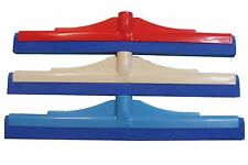 """3 FLOOR SQUEEGEES Wiper 41cm 16"""" Cleaning Drying Wet Rooms Bathroom Shower NEW"""