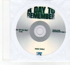 (FT425) A Day To Remember, Better Off This Way - DJ CD