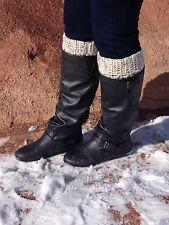 Handmade Crochet Boot Cuffs Leg Warmers Boot Toppers Oatmeal