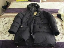 NWT Men's XL Black Goose Down Filled Burberry Coat $1295