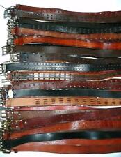 WHOLESALE LOT 50 VTG DOUBLE PRONG RUGGED LEATHER BLCK BROWN BELTS RESELL UPCYCLE