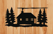 LOG CABIN WALL HANGING-WILDLIFE DECOR-GIFTS-CLINGERMANS #WCAB181