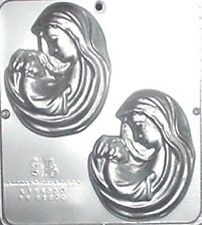 Mary with Baby Jesus Religious Chocolate Candy Mold  420 NEW