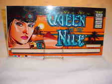 1997 QUEEN OF THE NILE SLOTS ART  ~~ GREAT COLORFUL CASINO INSERT