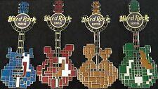 Hard Rock Hotel SAN DIEGO 2014 BLOCK GUITAR Series 4 PIN Set #76981-2 #76208-9