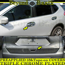 Fits 2014-2017 ROGUE Chrome Door Handle Bowl+Rear Tailgate Handle COVERS Trim
