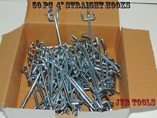 "(50pc) 4"" PEG BOARD HOOKS Shelf Hanger Kit 4"" x 1/4"" Garage Storage Hanging Set"