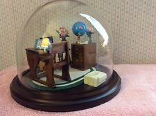 "8"" OD Glass Dome Miniature Diorama Classroom Sweet Gift for School Teachers NICE"