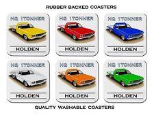 HOLDEN 71' 74'  HQ  1TONNER  FLATBED UTE   SET OF  6   RUBBER DRINK  COASTERS