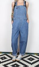 Dungarees UK 12 Medium Fitted Oversized 10 Small  TALL Denim Mid Blue  (83B)