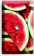 RED WATERMELON LIGHT DIMMER CABLE WALL PLATE COVER DINING ROOM KITCHEN ART DECOR