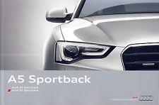 Audi A5 2015 catalogue brochure polonais rare