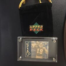 1993 UPPER DECK JOE MONTANA 24 KT GOLD ETCHED METAL CARD #1 LIMITED EDITION