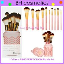 NEW BH Cosmetics 10-Piece PINK PERFECTION Brush Set w/Cup Holder FREE SHIPPING